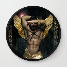 gold man  Wall Clock