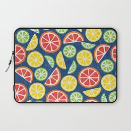 Vitamin C Super Boost - Citric Fruits on Blue Laptop Sleeve