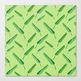 Banana leaves pattern green Canvas Print