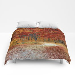 Red Autumn Comforters