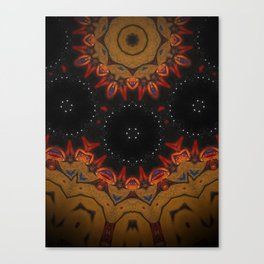 Vision // Geometric Abstract Fire Night Sky Star Vibrant Tribal Rustic Bohemian Boho Gypsy Shaman Canvas Print