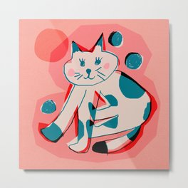 Abstraction_Cat_Sunbath Metal Print