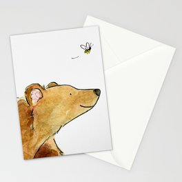 Bear & Bee Watercolor Stationery Cards