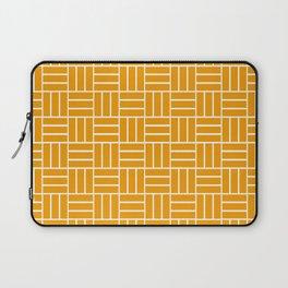Basketweave (White & Orange Pattern) Laptop Sleeve