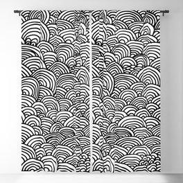 Black and white circular pattern Blackout Curtain