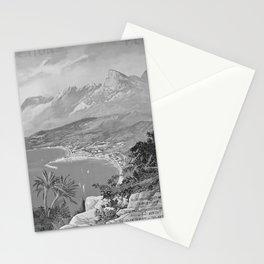 retro retro PLM Menton poster Stationery Cards
