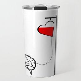 Brain and heart Travel Mug