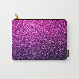 Purple Pink Ombre glitter sparkles Carry-All Pouch