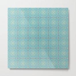 Vintage Fleur-de-lis Tile in Old World Tile Pattern Metal Print