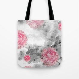 ROSES PINK WITH CHERRY BLOSSOMS Tote Bag