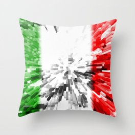 Extruded Flag of Italy Throw Pillow