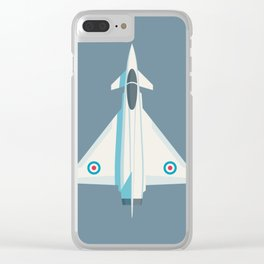 Typhoon Jet Fighter Aircraft - Slate Clear iPhone Case
