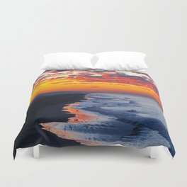 Sunrise Huntington Beach Pier   12/12/13 Duvet Cover