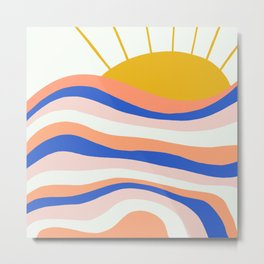 sunrise surf Metal Print