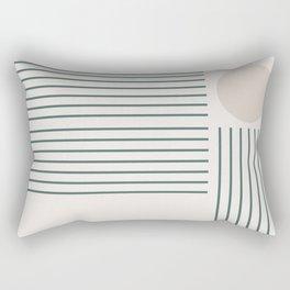 Lines & Circle 03 Rectangular Pillow
