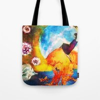 moonrise Tote Bags featuring Moonrise by SMartin Collages