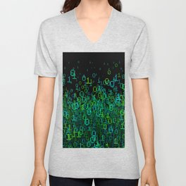 Binary Cloud Unisex V-Neck