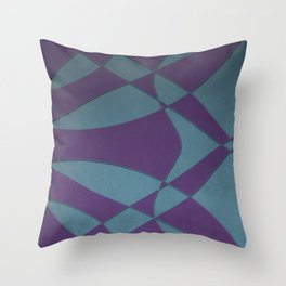 Wings and Sails - Purple and Light Blue Throw Pillow
