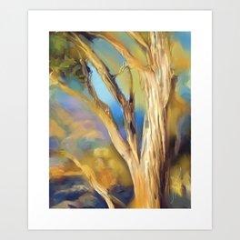 wacom textural study / tree Art Print