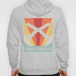 Vintage Style Shotgun Skeet Shooting Poster Hoody