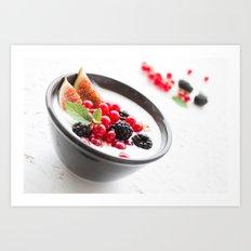 healthy breakfast Art Print