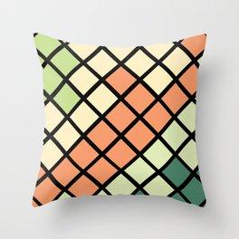 Geometric Mermaid 2 Throw Pillow