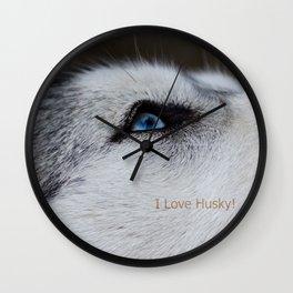 Husky eye Wall Clock