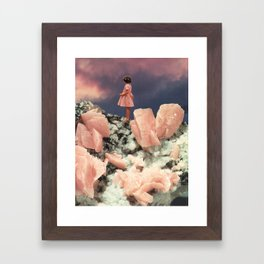 ROSE QUARTZ Framed Art Print