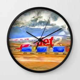 Pop Art Airliner Wall Clock