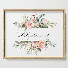 Bridesmaid Floral Serving Tray