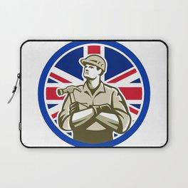 British Builder Union Jack Flag Icon Laptop Sleeve