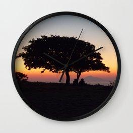 An African Sunset Wall Clock