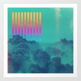 Striped sky Art Print