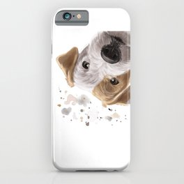 Curious Parson Russell Terrier Dog iPhone Case