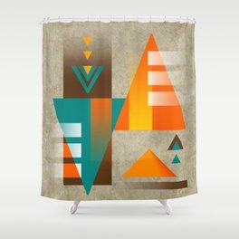 SUMMIT | orange Shower Curtain
