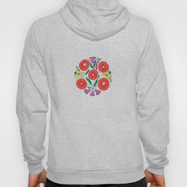 Hungarian embroidery inspired pattern pink Hoody