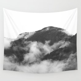Foggy Mountain Wall Tapestry