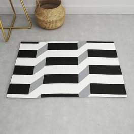 Original Geometric Op-Art Design Rug