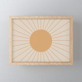 Minimal Sunrays Framed Mini Art Print