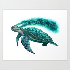 Cosmic Turtle Art Print