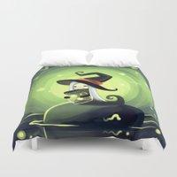 fireflies Duvet Covers featuring Fireflies by Freeminds
