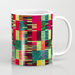Colorful Geometric Shapes and Lines (Pattern Occurring) #03 Coffee Mug