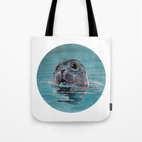seal Tote Bags featuring seal by ARTito