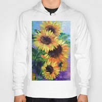sunflowers Hoodies featuring Sunflowers by OLHADARCHUK