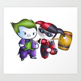 Joker Harley Quinn Art Print
