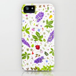 Leaves and flowers pattern (33) iPhone Case
