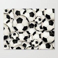 Dirty Balls - footballs Canvas Print