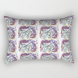 BACH `Oboe d'amour'             by Kay Lipton Rectangular Pillow