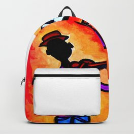 Silhouette Violinist Oval Backpack