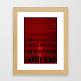 P.T. - Red Framed Art Print